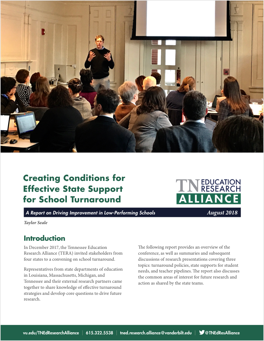 turnaround conference report cover
