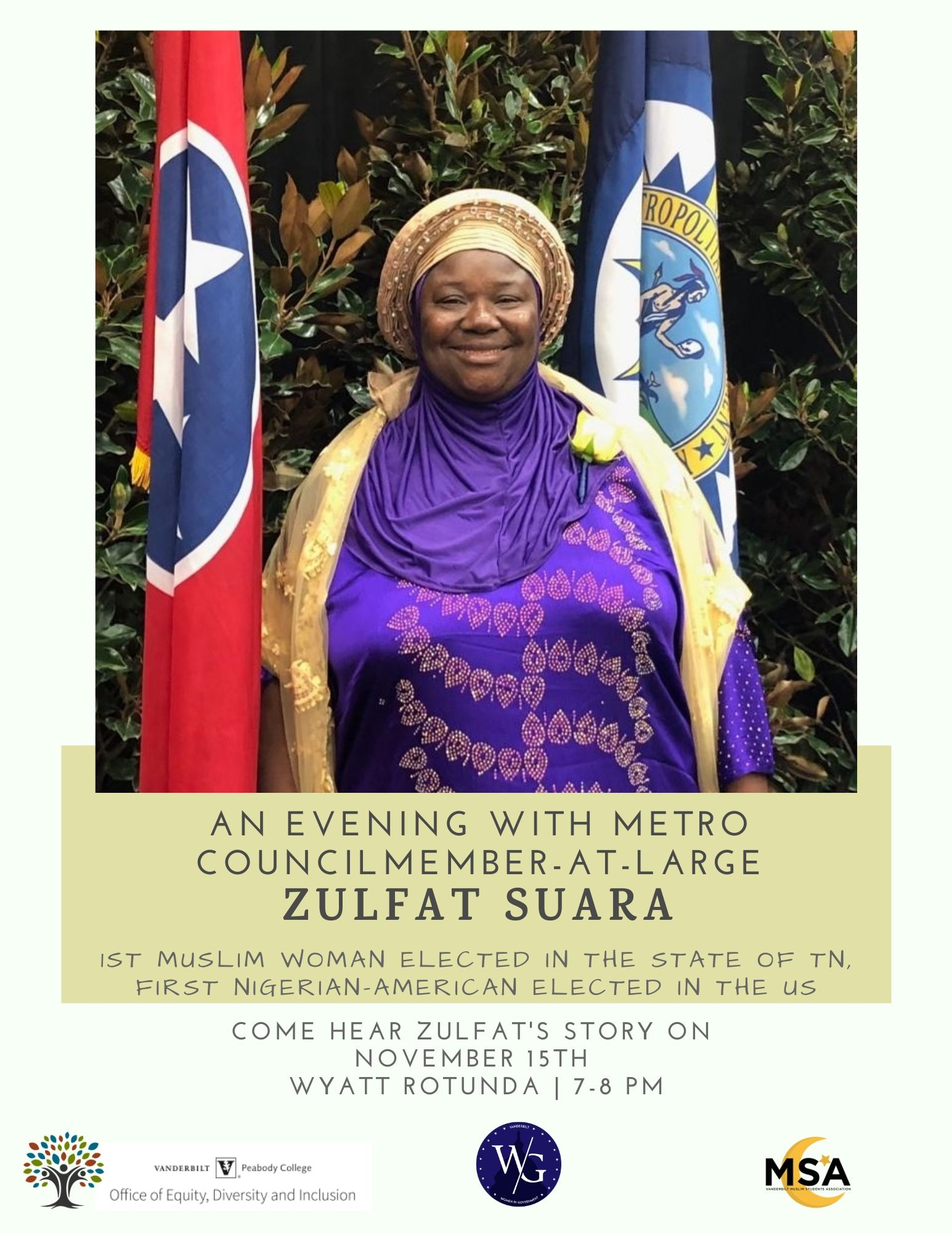 An Evening w/ Council Member Zulfat Suara