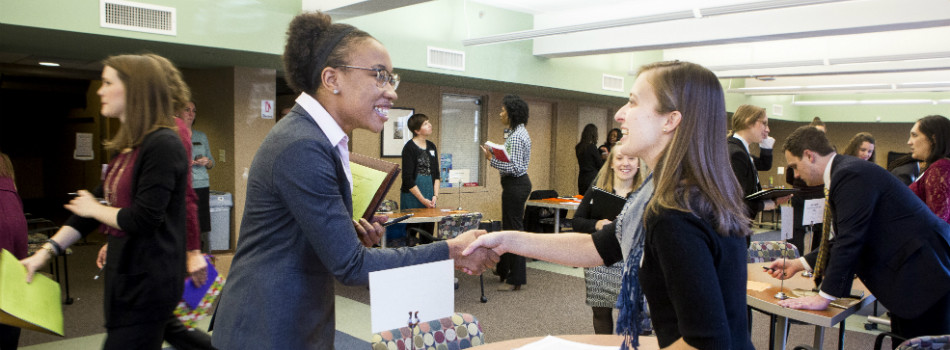 Peabody Career Services interview relays connect students with employers